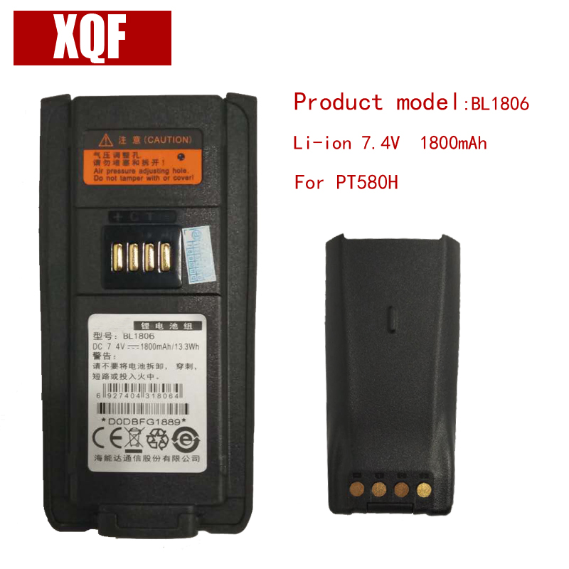 Original BL1806 Li-on 7.4V 1800mAH Battery For Hytera HYT Radio PT580H Walkie Talkie