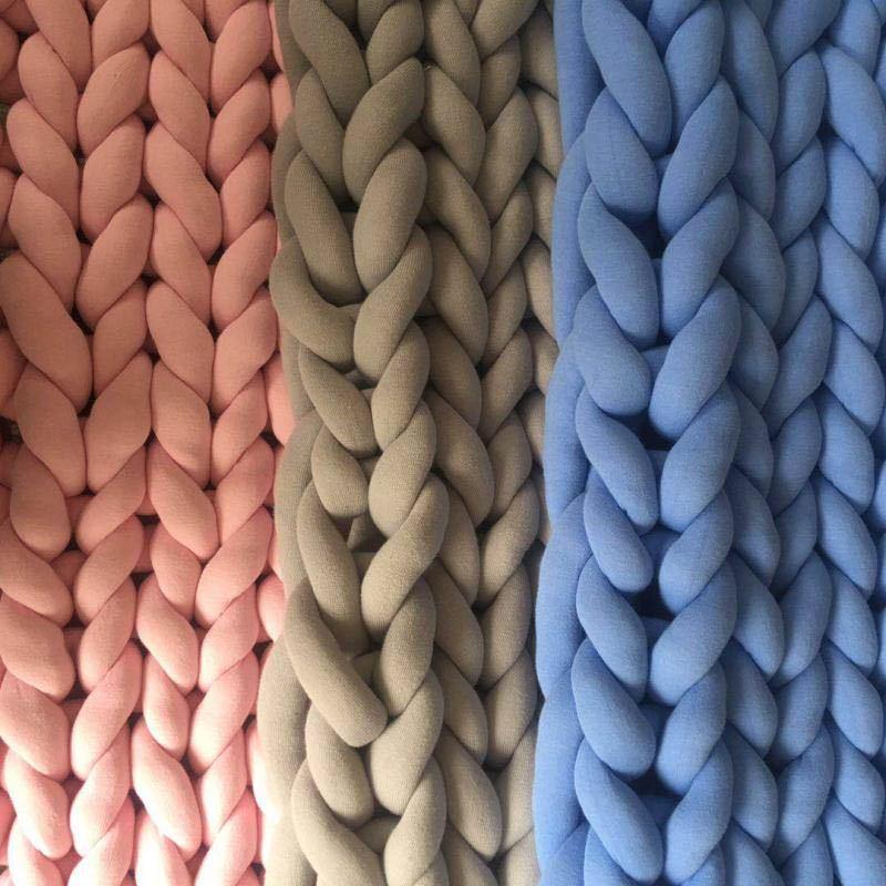 Image 5 - 127*152cm Fashion Hand Chunky Wool Knitted Blanket Thick Yarn Merino Wool Bulky Knitting Throw Blankets Chunky Knit Blanket-in Blankets from Home & Garden
