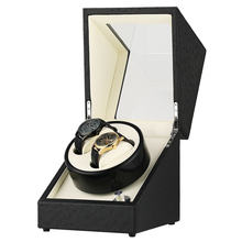 AU/EU/US/UK Plug Automatic Mechanical Watch Winders Black Wooden Winder Deluxe Faux Suede Interior Storage Boxes