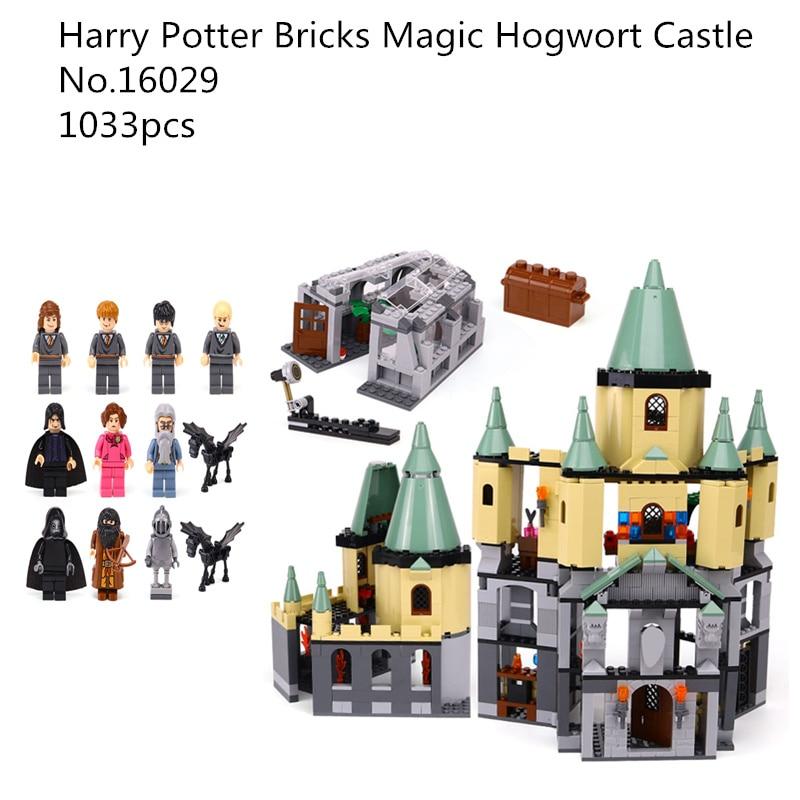 1033Pcs 16029 Model building kit compatible with lego 5378 Harry Potter Brick Magic Hogwort Castle Brick figure toy for children bwl 01 tyrannosaurus dinosaur skeleton model excavation archaeology toy kit white