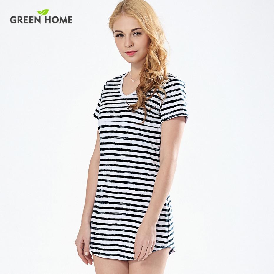 green home summer beach striped nursing dress maternity