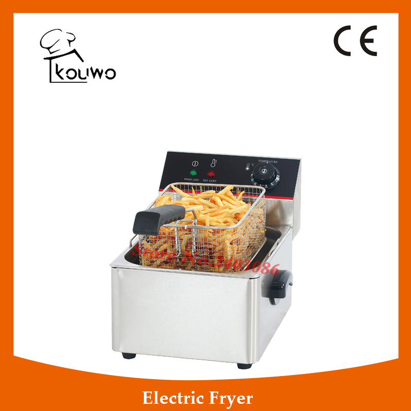 Stainless Steel table counter top food processing machine 6L electric single tank chicken potato chips deep Fryer for sale shipule fast food restaurant 30l commercial electric chicken deep fryer commercial potato chips deep fryer frying machine