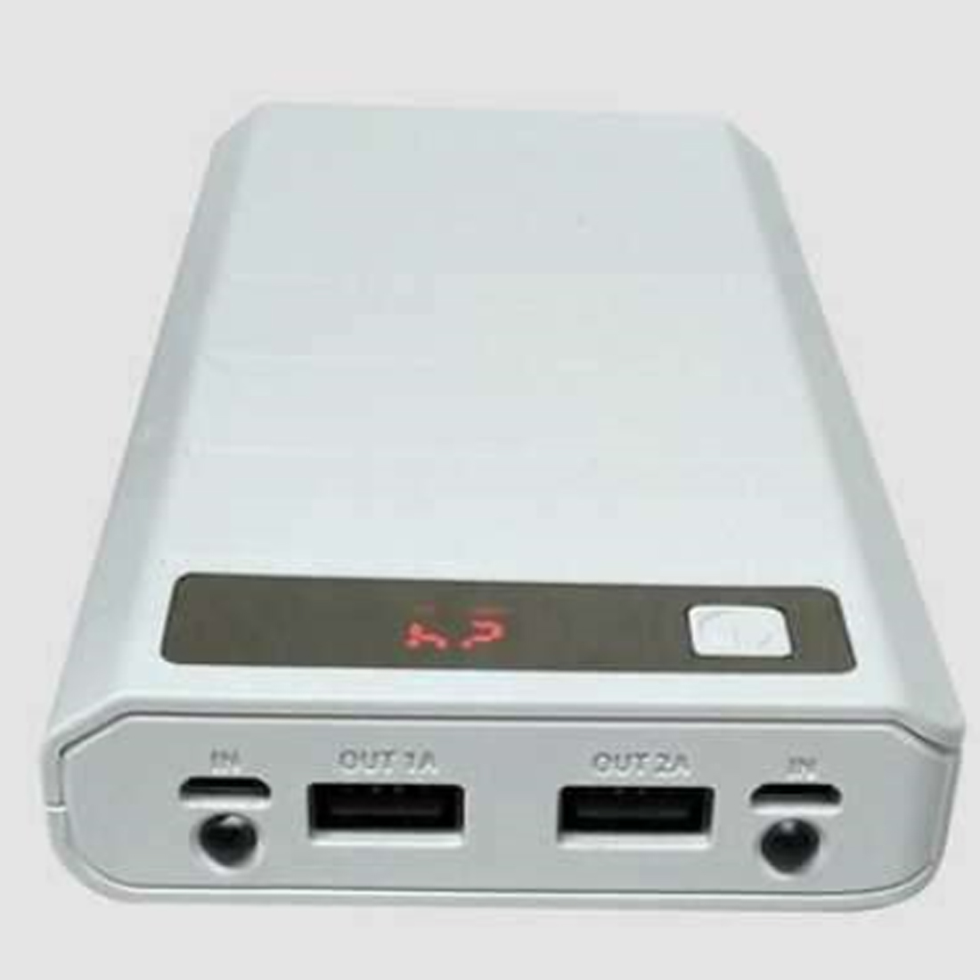 Marsnaska Portable USB Power Bank Shell Box DIY USB Mobile Power Bank Charger Case Pack 8pcs 18650 Battery Holder LCD