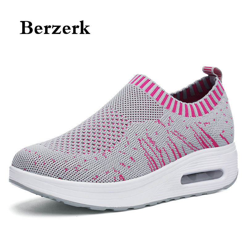 women running shoes outdoor girls ladies sneakers fly woven air sole sports shoes new female fitness swing shoes size