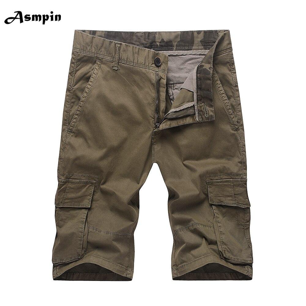 2018 Summer Camo Military Shorts Bermuda Camouflage Cargo Shorts Men Cotton Loose Tactical Short Camisa Masculina Plus Size