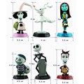 Funko Nightmare Before Christmas Jack Skellington Tim Burton Moving Action Figure Collection Toy Doll 6pcs/lot Free Shipping