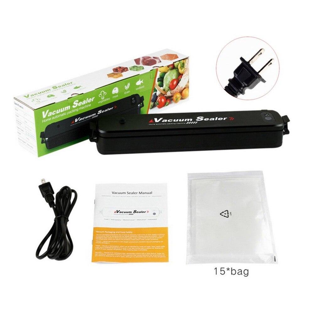 Sigillatore di vuoto Per Uso Domestico Automatico di Cibo Macchina di Conservazione Per La Cucina Secco Umido Conservazione Degli Alimenti con 15 pz Sacchetti di Tenuta