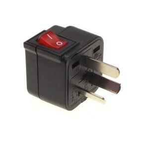 Image 4 - Adaptateur de voyage de convertisseur de prise de courant universel de lue usa UK AU avec le commutateur principal de LED convertissent la prise du monde noir