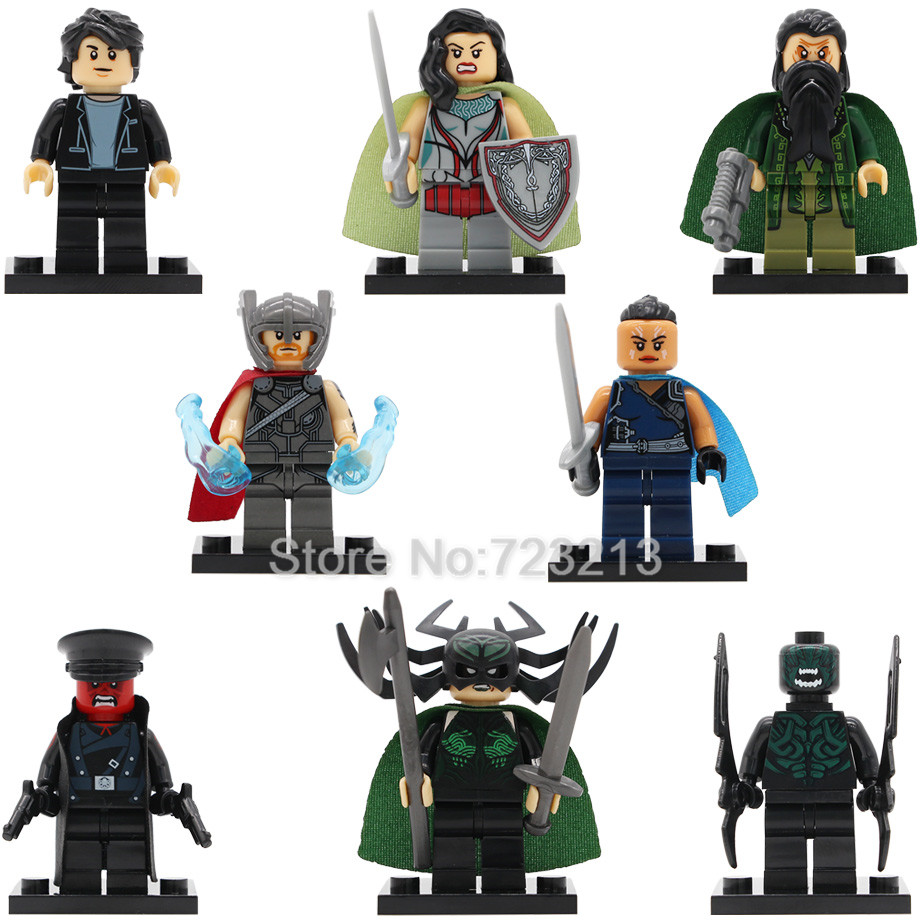 Super Hero Marvel Lady Sif Thor Hela Valkyrja Figure Bruce Banner Berserker Mandarin Red Skull Building Blocks Single Sale Toys single sale super heroes red skull mandarin thor grandmaster valkyrja bricks action building blocks children gift toys xh 709
