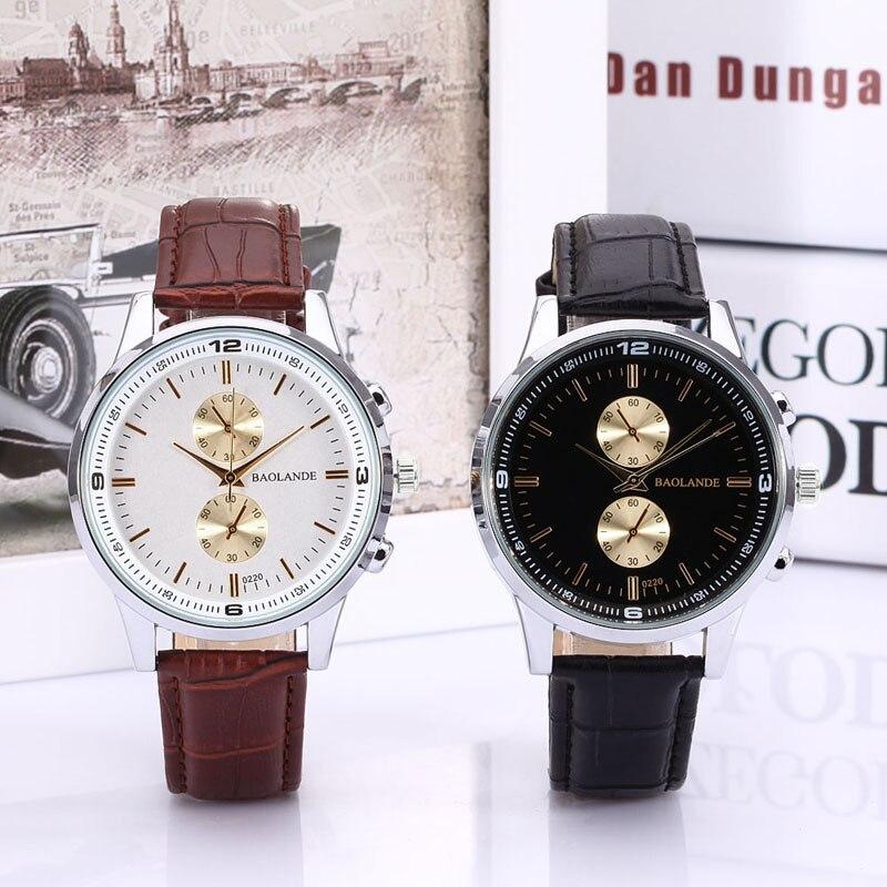 2019 Hot Sale Relogio Masculine Women man Business Numerals Faux Leather Analog Quartz Fashion Couple Watch relogio masculino#YY