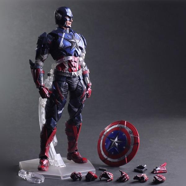 Variant jouer ARTS KAI Marvel capitaine amérique PVC figurine Super héros Anime Figure à collectionner modèle jouets poupée 27 cm SHAF018