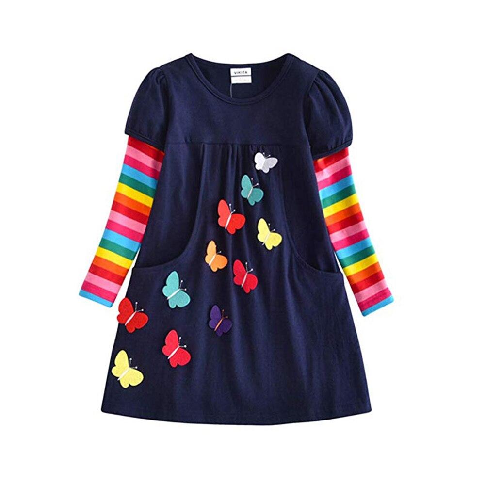 HTB1PK4mQCzqK1RjSZFjq6zlCFXaM VIKITA Girls Dress Long Sleeve Kids Flower Dresses Children Unicorn Vestidos 2019 Girls Dresses Autumn Kids Dress For Girl
