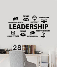Vinyl Wall Decal Leadership Teamwork Skills Communication Office Workspace Decorative Sticker Mural  BG08