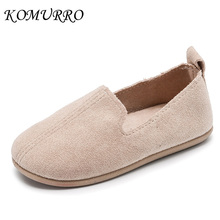 Children Girl Leather Shoes Kid Boy Suede Candy Color Slip-On Shoes Flat Spring Dance Children Shoes Girl chaussure fille enfant