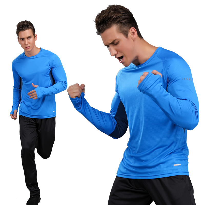 Long Sleeves T-shirt Sports 2017 Quick Dry Compression Running T-shirt For Men Long Sleeve Sports Gym Fitness Basketball Jersey casual round neck stripes pattern black long sleeves sweat dry tight t shirt for men