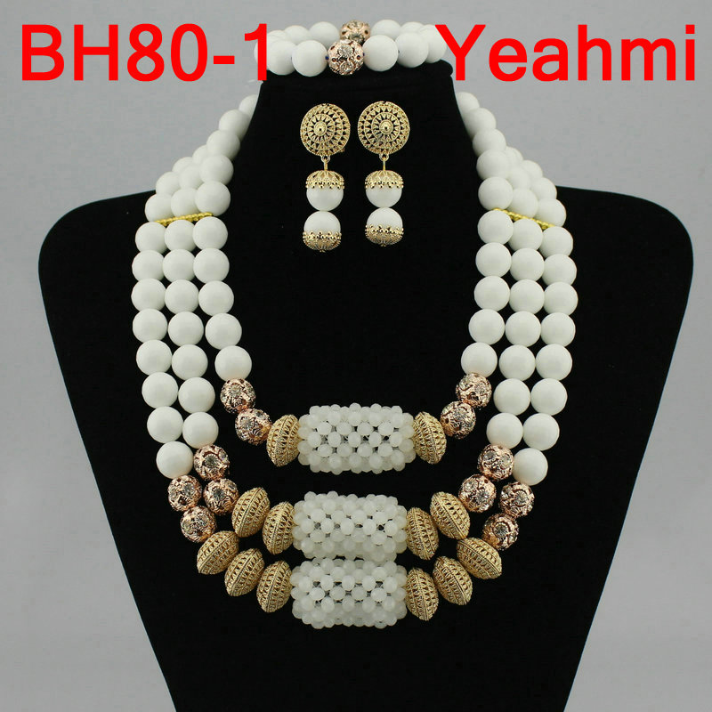 Wholesale Women Christmas Gift African Beads Jewelry Set Nigerian Wedding Braid Crystal Necklace Sets Free Shipping BH80-2Wholesale Women Christmas Gift African Beads Jewelry Set Nigerian Wedding Braid Crystal Necklace Sets Free Shipping BH80-2