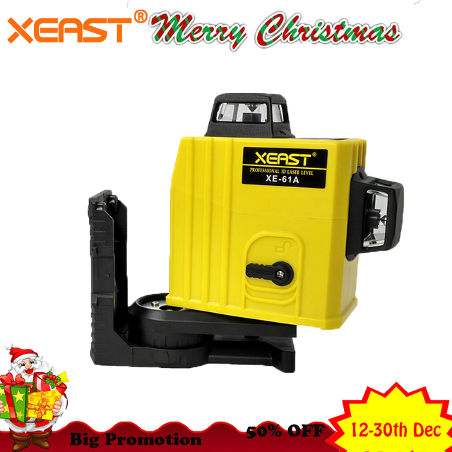 XEAST XE-61A 12 line 360 Self-leveling Cross Line 3D Laser Level Red Beam Low price laser level meter
