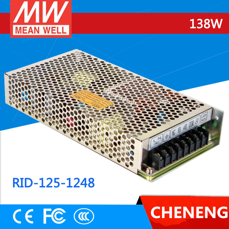 цена на MEAN WELL original RID-125-1248 meanwell RID-125 138W Dual Output Switching Power Supply