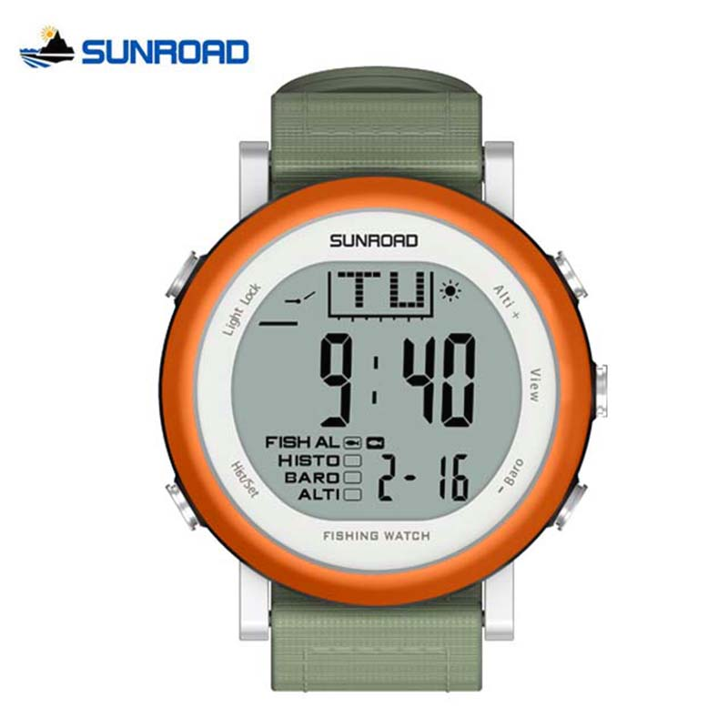 SUNROAD Fishing Watch Outdoor Climbing Sports Watches Weather Forecast Men Woman Waterproof Altimeter Barometer Thermometer