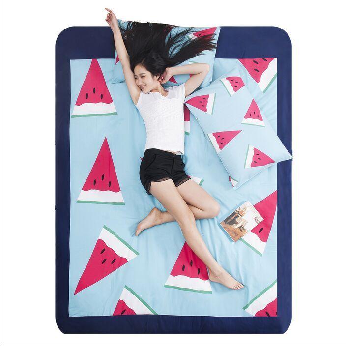 Printting Fruit Watermelon Children Adult Bedding Bed Linen Sets Duvet Comforter Covers Pillow Shams 3 4pcs Hot For Living Room