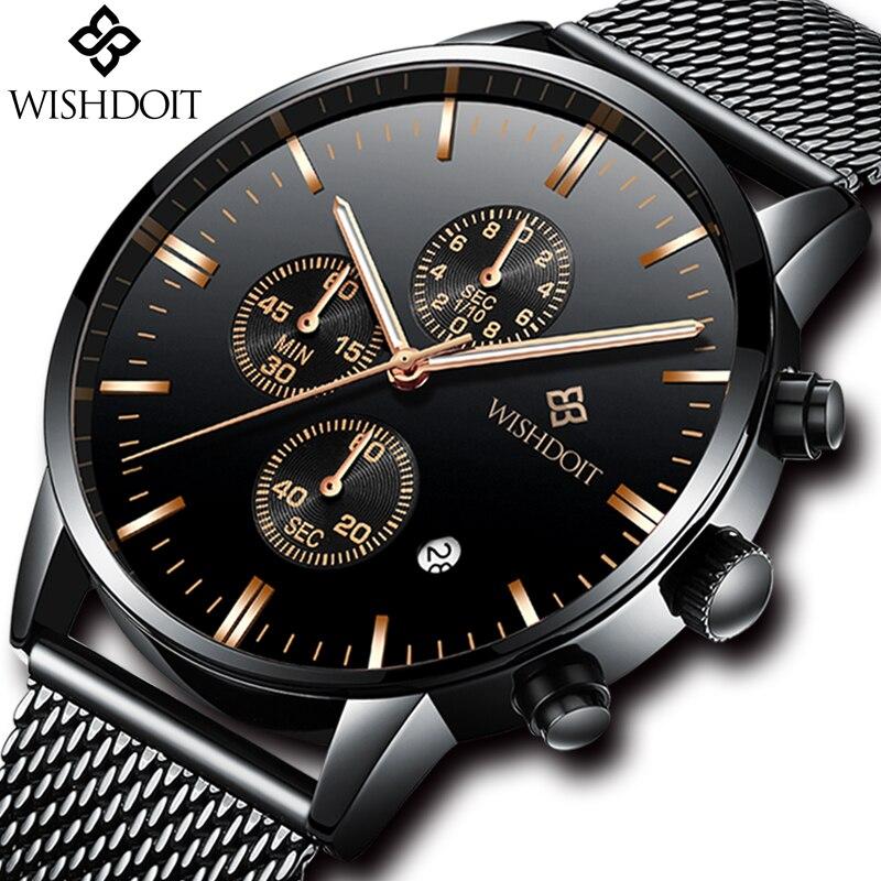 Reloj de pulsera ultrafino resistente al agua relogia masculino 2018 nuevos relojes para hombre de lujo de marca superior para hombre