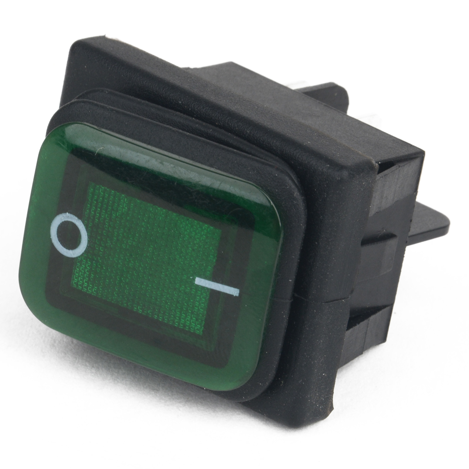 Mayitr New 4 Pin Rocker Toggle Switch Green LED 220V Car Boat ON/OFF SPST Waterproof 3 Position Plastic Metal Switches Wholesale