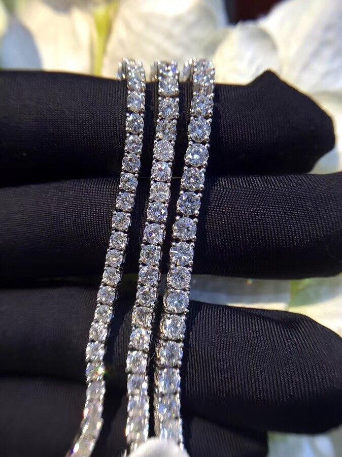 TB264 0.1/0.3/1 carat/pcs petite pierre De Luxe NSCD Simulé Gem, 925 sterling argent bracelets, charme bracelets de tennis bracelet