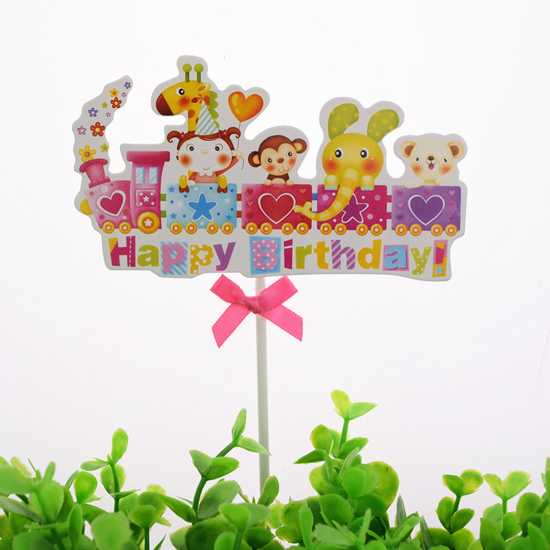 Cake Toppers Flag Mr Mrs Kids Happy Birthday Train Rainbow Cupcake Topper Wedding Anniversary Bride Baby Shower Party Baking DIY in Cake Decorating Supplies from Home Garden