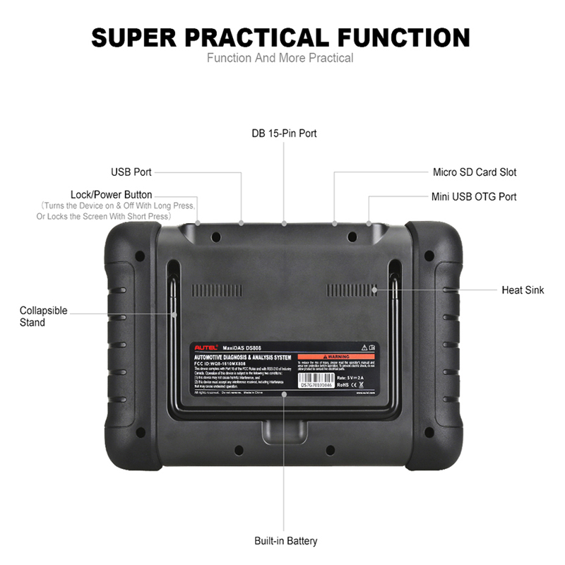 Image 3 - Autel MaxiDAS DS808 OBD2 Scanner Machine Full System Automotive Diagnostic Tool with Key Programming next generation of DS708-in Engine Analyzer from Automobiles & Motorcycles