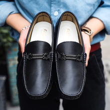 Men Penny Loafer Shoes Black White Flats Boat Shoes for Male Leather Slip on Casual Footwear Anti-Slip Men Walking Driver Shoes men flats shoes casual summer autumn espadrilles slip on canvas shoes men boat shoes breathable white black walking shoes 6h85