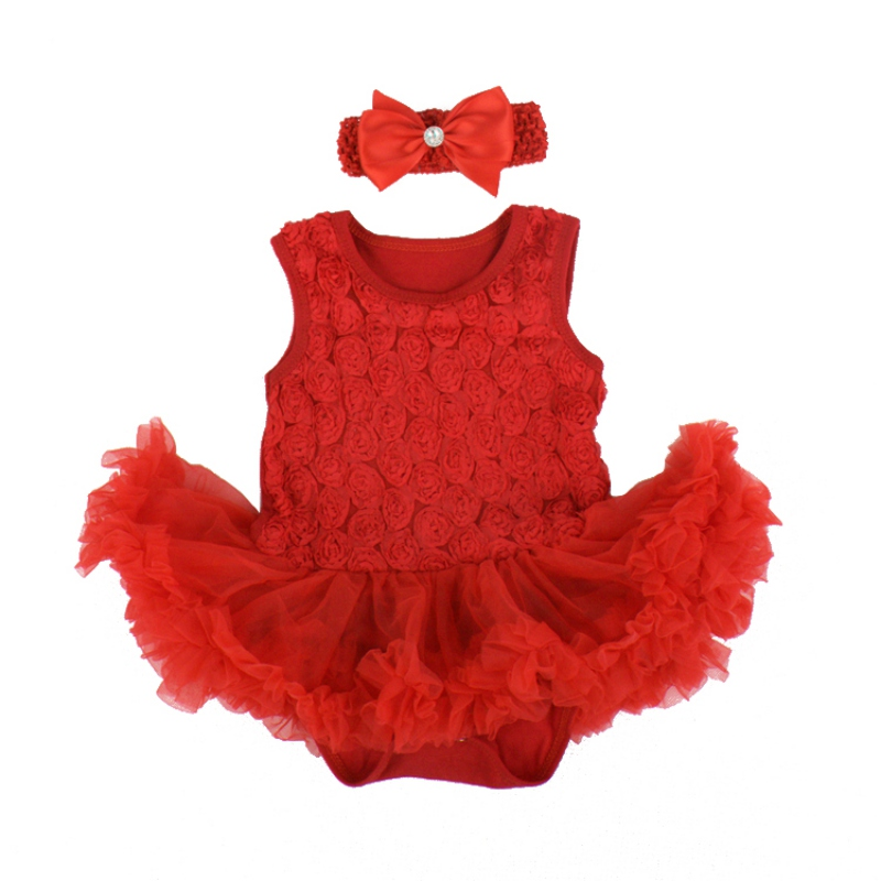 Baby Toddler Ruffles Tutu Dress Romper One-Piece Outfits Baby Dresses
