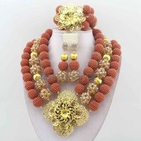 Fashionable African Beads Jewelry Sets Crystal Jewelry Set Nigerian Wedding Necklace Womens Jewellery Set Jewelry Sets HD6973