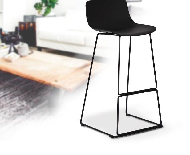 где купить YINGYI New Arrival Modern Leisure Plastic Dining Bar Chair Black White Colors по лучшей цене