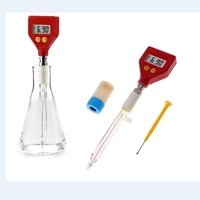 Portable pH Meter Sharp Glass Electrode for Water Food Cheese Milk Soil Bread Aquaculture Hydroponics pH Test 0.00~14.00pH