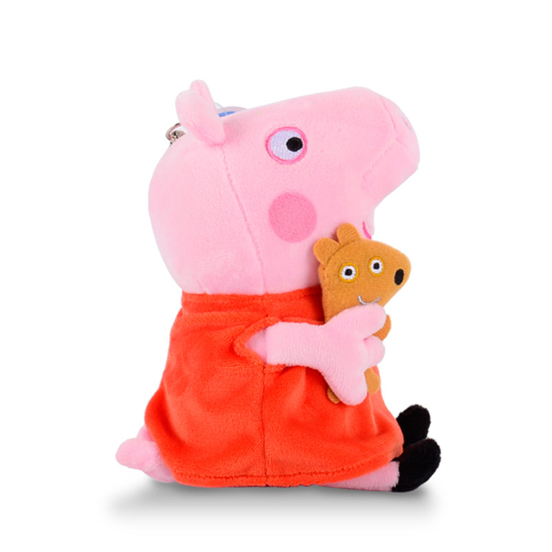 Peppa pig George Family Plush Toys 19cm Stuffed Doll Toys For Children 19cm adorable peppa pig dad mom george stuffed plush toy