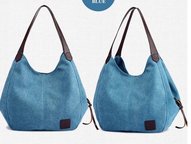 Free shipping KS1-6 New style canvas bag ladies fashion simple handbag multi-layer leisure bag handbag