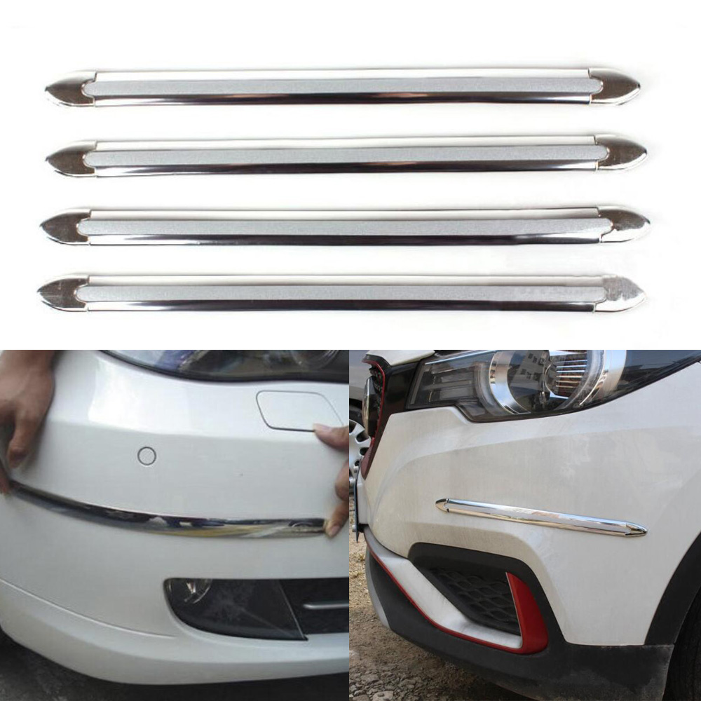 4Pcs Universal Car Rear Bumper Sill Body Guard Protector Rubber Trim Cover Strip