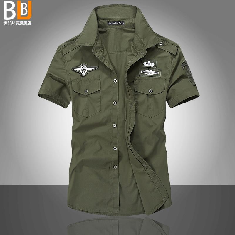 News Men's Shirts Fashion Airforce Uniform Military Short Sleeve Shirts  Dress Shirt Free Shipping A Military Uniform Shirt