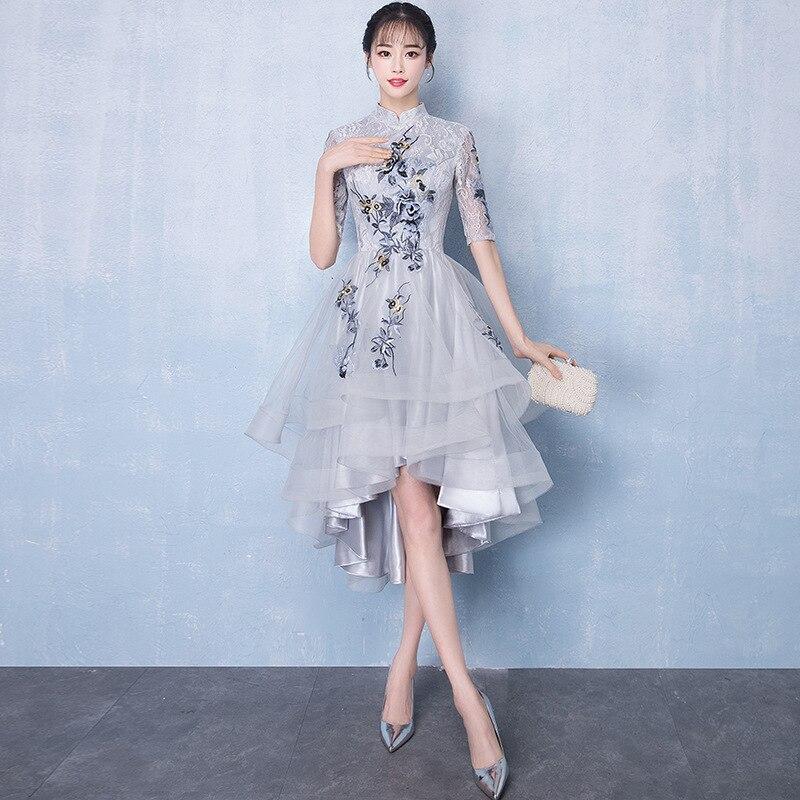Femmes chinoises Amélioré Qipao Traditionnel Fait À La Main Bouton Cheongsam Classique Robe De Mariée Demoiselle D'honneur décontracté Vintage Vestidos