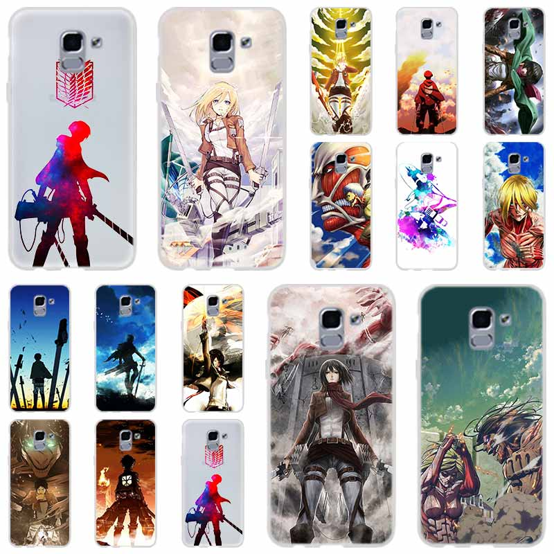 Attack On Titan Anime For Phone Case Samsung Galaxy j6 J8 J7 J5 J3 J4 Plus 2018 2017 2016 J610 Prime Soft Silicone Coque