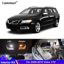 11 pcs Nenhum Erro Canbus LED Branco Car Interior Luz Kit Pacote Para 2008-2010 Volvo V70 Reading Mapa dome Porta Tronco Luzes de Placa
