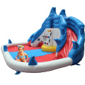 Crocodile Inflatable Water Slide Water Park With Water Pool