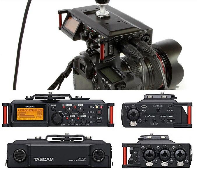 Tascam Dr-70d Professionelle 4-kanal Recorder Für Slr Audio Micro-film Aufnahme Vier-kanal Recorder Und Preamps Synchron Unterhaltungselektronik Tragbares Audio & Video