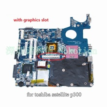 laptop motherboard for toshiba satellite p300 p350 DABL5MMB6E0 A000034760 pm45 ddr2 with graphics slot