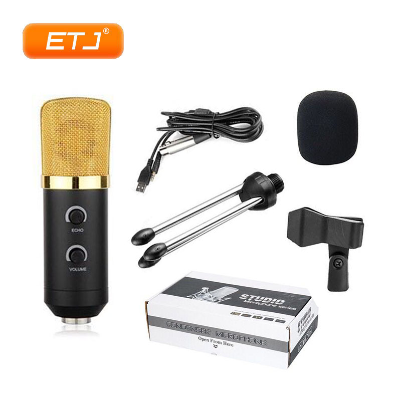 condenser microphone usb microphone studio wired computer microphone with stand for karaoke. Black Bedroom Furniture Sets. Home Design Ideas