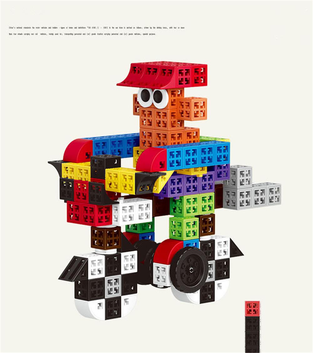 34/48/88/138/188pcs Blocks Cubes Unit Plastic Interlocking Construction Model Building Set of Early Educational Toys For Child 7