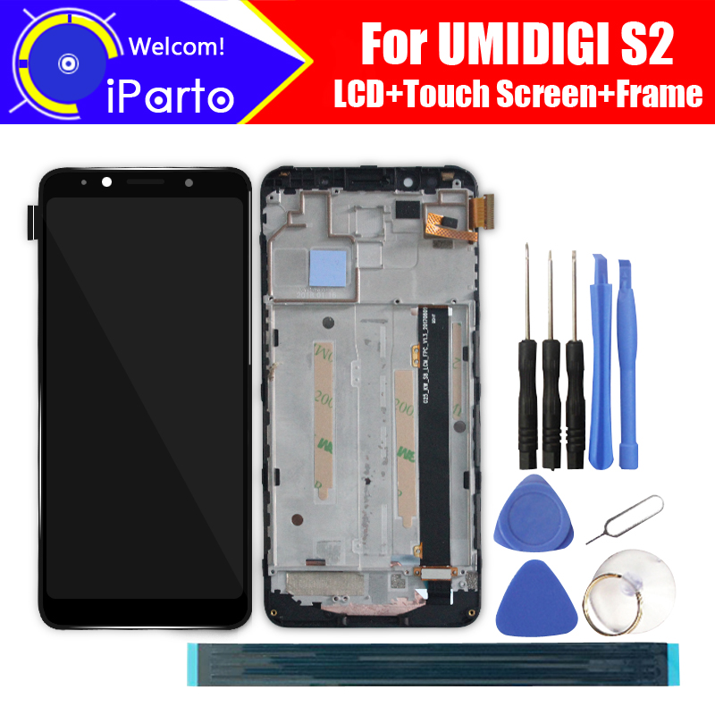 6.0 inch UMIDIGI S2 LCD Display+Touch Screen Digitizer+Frame Assembly 100% Original LCD+Touch Digitizer for UMIDIGI S2