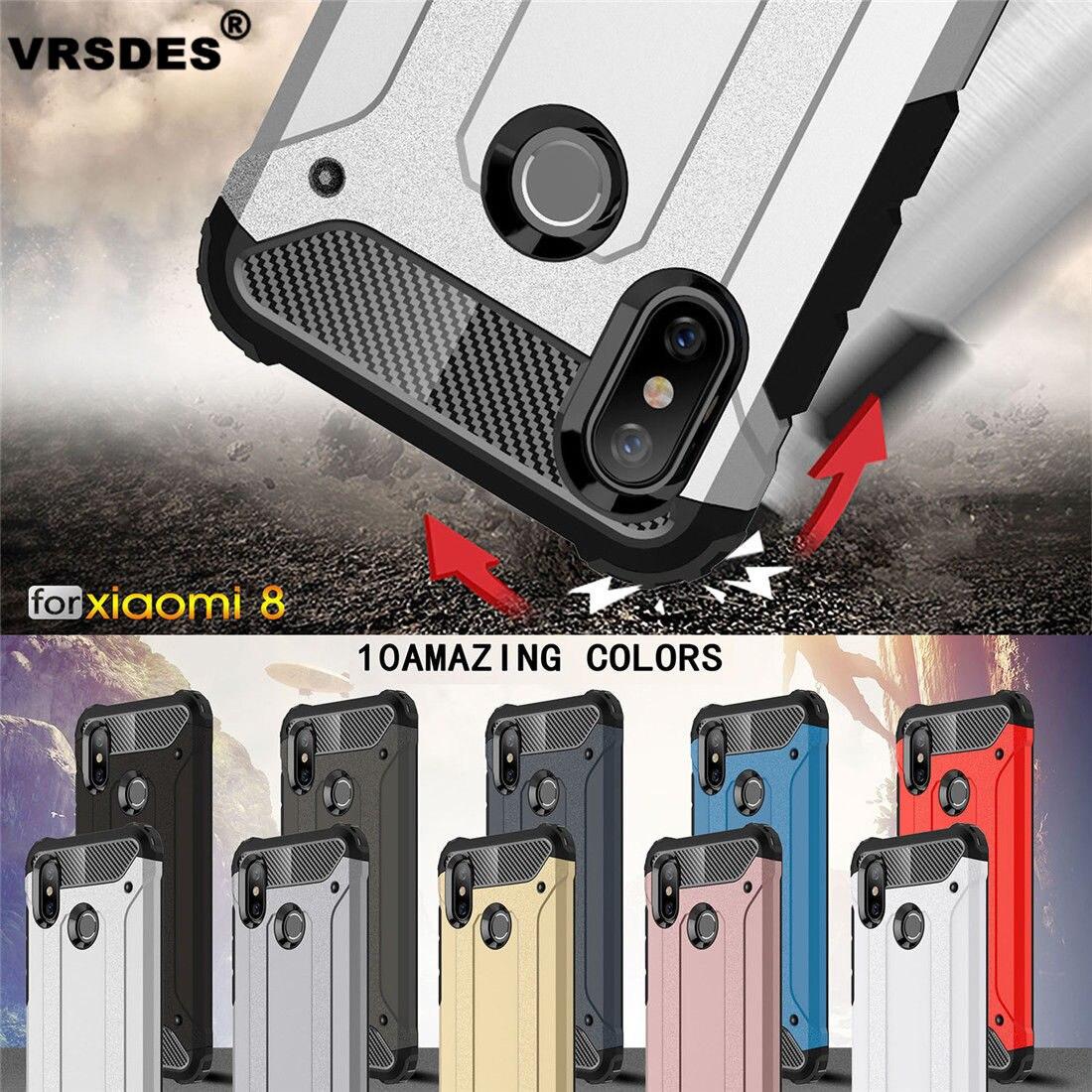 VRSDES Armor Case For Xiaomi Redmi Note 5 Pro Mi 8 6X 5X A1 A2Case Silicone