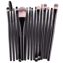 15Pcs Multipurpose Cosmetic Brushes Set Blush Foundation Eyebrow Eye Shadow Liner Lip Contour Concealer Powder Makeup Brush kit
