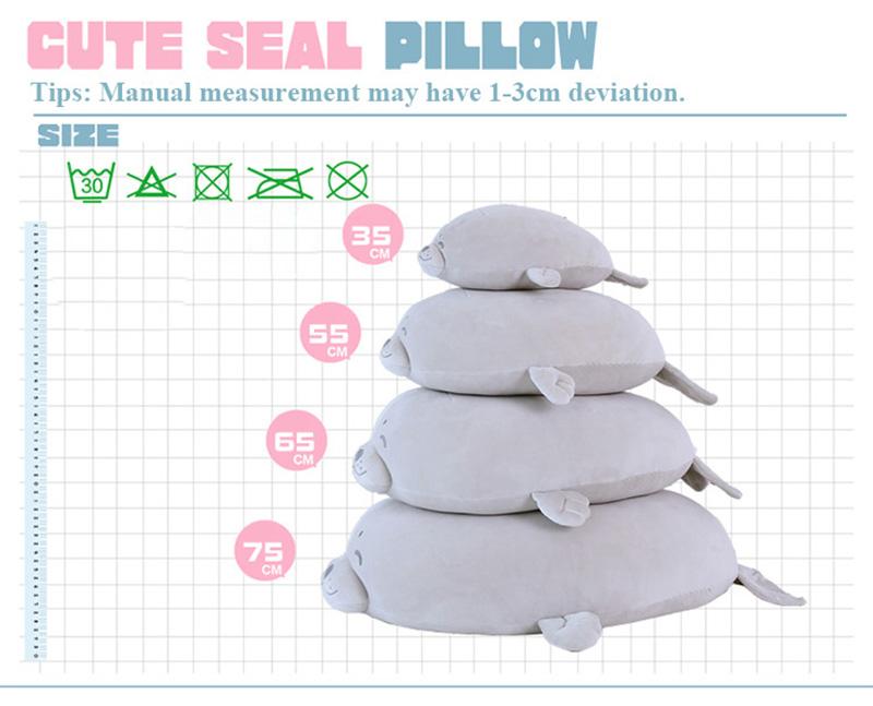 1pcs Cute Soft Animal Sea Lion Doll Baby Sleeping Pillow Marine Animals Seal Plush Toy Kids Stuffed Toys Gift (2)